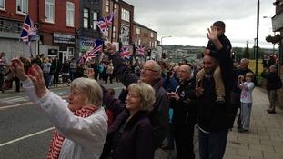 Crowds on street