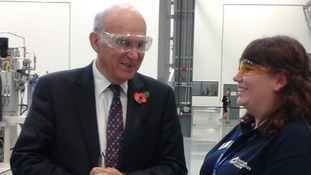 Vince Cable meets Leah Rider