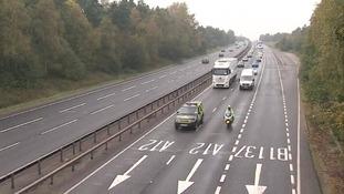 A12 in Essex.