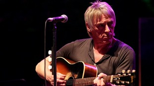 Paul Weller performing on stage at the Royal Albert Hall in west London