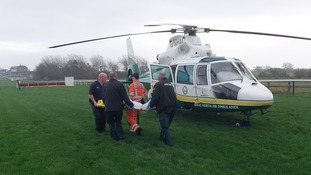 Air ambulance rescue