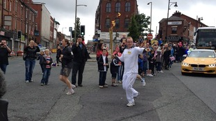 Torch relay in Oldham