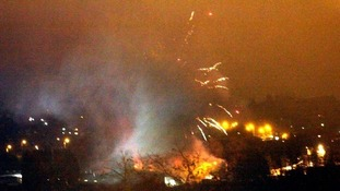 Two in hospital and one missing after fireworks warehouse blaze