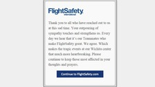 Statement on the website of aviation training firm FlightSafety International