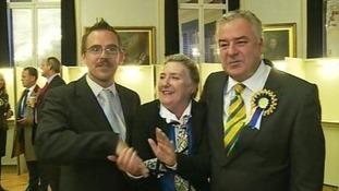 Deputy-elect Scott Wickenden on the left