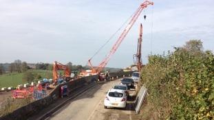 Work on the A431 near Bath