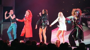 The Spice Girls performing Wannabe in 1997.