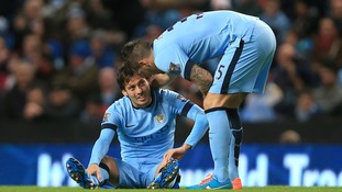 Man City boss Manuel Pellegrini confirms David Silva will miss three weeks with ligament injury