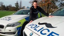 Northamptonshire Police's Movember car
