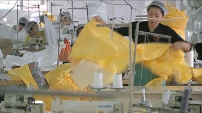 Factories are mass producing protective Hazmat suits