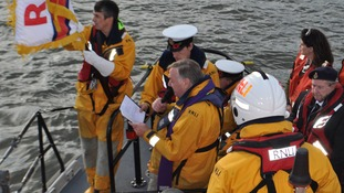 There was a short service of remembrance on board the lifeboat