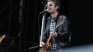 Noel Gallagher performs on the Isle of Wight