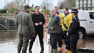 Ian Liddell-Grainger with David Cameron on a visit to see floods