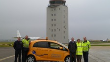 Cambridge Airport's new electric car