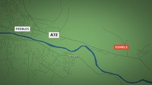 The crash happened on the A72 near to Eshiels.