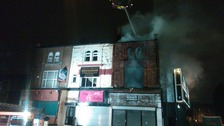 Firefighters tackle blaze