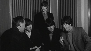 The Beatles in an Anglia Television interview in 1964.