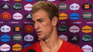 England keeper Joe Hart speaks to ITV Sport's Gabriel Clarke after Italy loss.