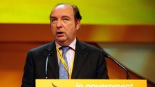 Norman Baker speaking at the Liberal Democrat conference.