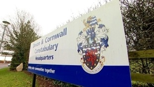 Devon & Cornwall police sign