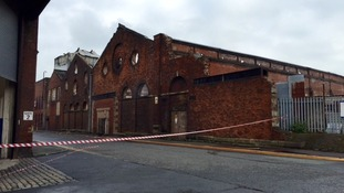 Fire ripped through roof of warehouse in Blackburn