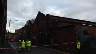 Warehouse burnt out in Blackburn