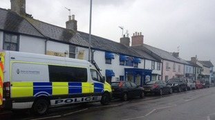 Police activity in Fore Street in Hayle