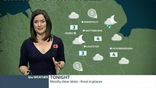 East Midlands weather: Possibility of showers overnight