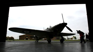 A Hurricane fighter aircraft at Duxford