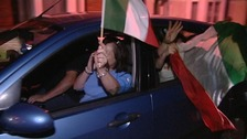 Fans celebrate in Bedford