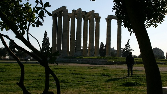 The Temple of Olympian Zeus today