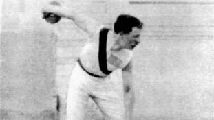 1896: USA's Robert Garrett, gold medallist in the discus and shot put