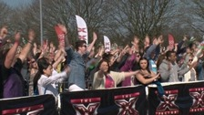 People queuing for X Factor auditions