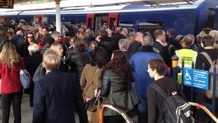 Passengers stranded at Basingstoke.
