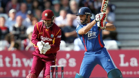 Essex &amp; England&#x27;s Ravi Bopara bats during the NatWest International T20 match at Trent Bridge, Nottingham.