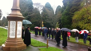The service was held at Carlisle Cemetary