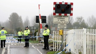 The level crossing at Ufton Nervet near to the scene of the rail crash