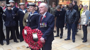 Johnny Johnson, who is the last surviving crew member from the Dambusters raid was a special guest