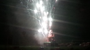 Sparks were seen firing close to the effigy. Mr Salmond had played down the furore surrounding his appearance.