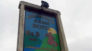 The attack took place in a room at the Sirhowy Arms Hotel.