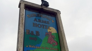The alleged attack took place in a room at the Sirhowy Arms Hotel.