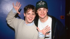 Byker Grove duo PJ & Duncan at the Smash Hits party in 1994