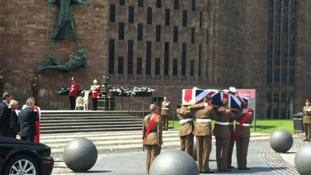 Funeral for Corporal Michael John Thacker underway