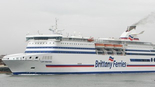 Hampshire firefighters trained on board a Brittany Ferries vessel.