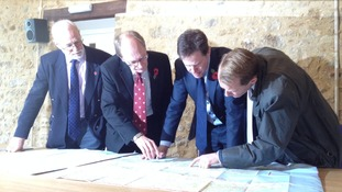 Nick Clegg discusses improvements to the A303 at a meeting in Ilminster