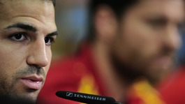 Spain midfielder Cesc Fabregas.