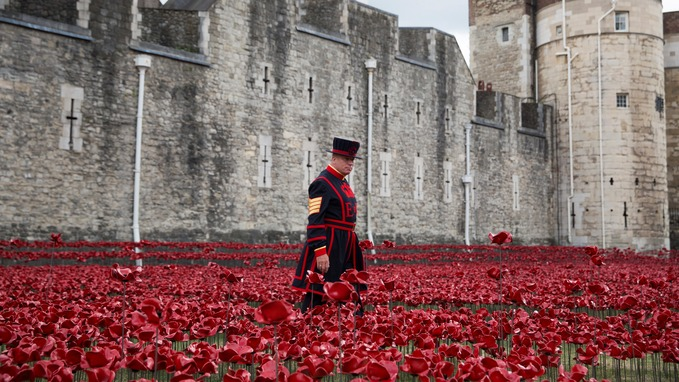 Tower Of London Poppies To Stay On Display Past Armistice Day - Tower of london river of poppies