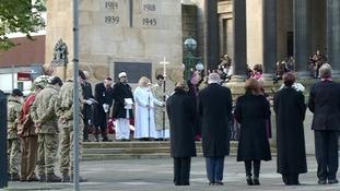 Prayers are said in the city centre