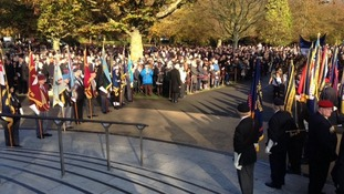 Silence as Coventry remember their war dead
