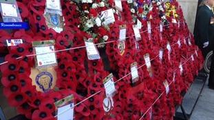 Wreaths laid at memorial